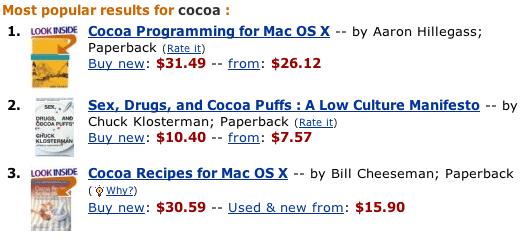 """Amazon on """"Cocoa"""""""